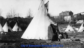 Aboriginal Teepees at the Ortona Armory