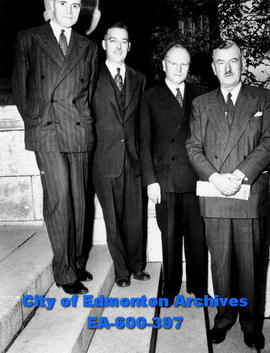 Alberta Division, Canadian Medical Association officers, on the steps of the Medical Building at ...