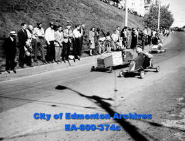 Labour Day second annual soap box derby on McDougall Hill.