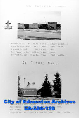 St. Theresa and St. Thomas More Catholic Churches Poster