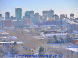 Looking Southeast To Downtown Edmonton