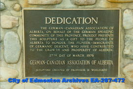 "Plaque - ""Dedication"""