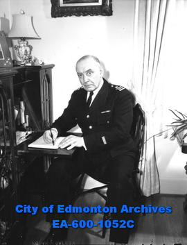 "Chief Constable Reginald ""Reg"" Jennings in his office."
