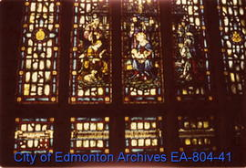 Stained glass windows at All Saints' Anglican Cathedral