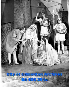 "A scene from Euripides' play, ""The Trojan Women,"" a University of Alberta summer sessio..."