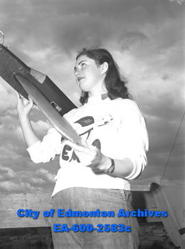 """Edmonton Aeroneers to 'Fly' in Bulletin's Air Show Here"".  Marjorie Hamilton."