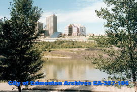 Edmonton skyline from south side boardwalk
