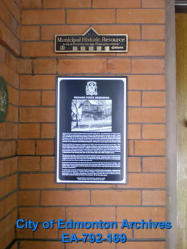 EHB Plaque for the Richard Foote Residence