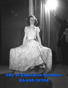 Miss Edmonton 1948, Joan Farley, representing Highlands Community League.