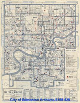 Official Map of the City of Edmonton, Showing Street Numbers and Names, Public and Separate Schoo...