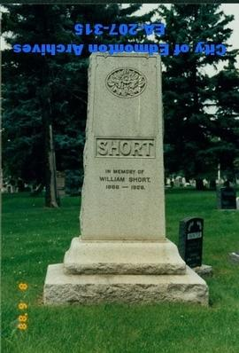 Gravestone - William Short