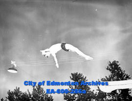 Provincial Swimming Championships at the West End Swimming Pool: diver Billy Patrick.