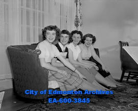 Elmwood Community Queen candidates. L-R: Shirley Billings, Margaret Lowe, Donnamae Dick, Barbara ...