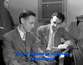 U of A music teachers. L-R: Arthur Crighton, Richard Eaton.