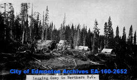 A logging camp in Northern British Columbia.