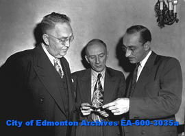 Allied Printing Trade Union's Convention. L-R: James H. Davidson, George Charbonneau, W.H. Sykes.