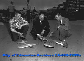 """Edmonton Aeroneers to 'Fly' in Bulletin's Air Show Here"".Murray Olson, Bob Randall and..."