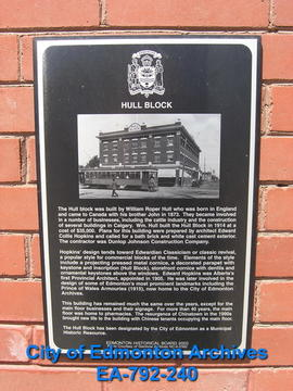 EHB Plaque for the Hull Block