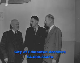 Edmonton Legion meeting. L-R: W.S. Rose, A.L. Hamilton, R.M. Edwards.