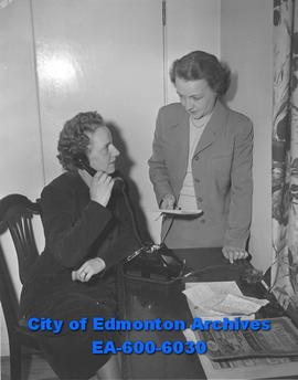Mrs. D. Buchanan and Mrs. T.S. Wilson organize University of Alberta Women's Auxiliary desse...