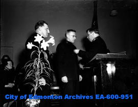 Salvation Army presentation at the Edmonton Citadel: Jack Holmes honoured for 50 years of unbroke...