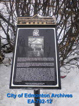 EHB Plaque for Lester Allyn House