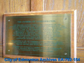 EHB Plaque for the Fathers of Confederation Mural