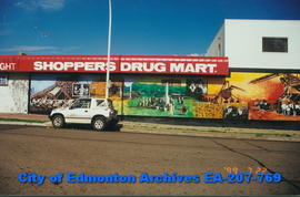 Beverly Shoppers Drug Mart decorated with murals.