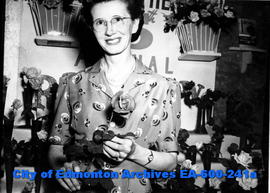 Winner of the Edmonton Bulletin Cup at the 15th annual Capitol Theatre rose show, Mrs. H. G. McDo...