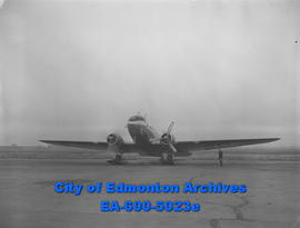 RCAF men, preparing for longest mercy flight ever attempted. They are headed to Eureka Island, 68...
