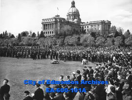 Empire Day service, Legislative Grounds, Edmonton.