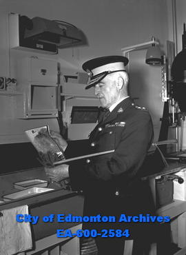 Commissioner S.T. Wood of the RCMP on inspection tour in Edmonton.