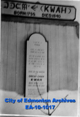 """Here Lie the Remains of Great Chief Kwah...."""