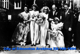 Bill and Trudy Stevenson Wedding Party on Church St'