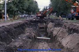 Installing relief sewer (gas line)