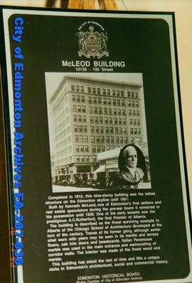Plaque - McLeod Building