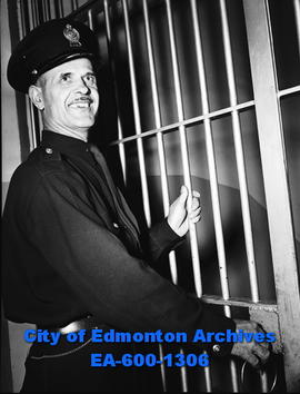 Constable John Musa cooks for prisoners at Edmonton city jail.