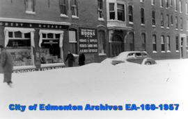 Cecil Hotel after the Big Snow of 1942