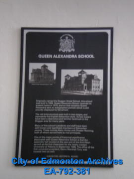 EHB Plaque for Queen Alexandra School