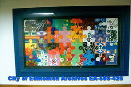 Puzzle Mural #1, by local teens