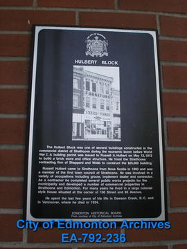 EHB Plaque for the Hulbert Block