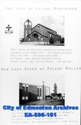 Our Lady of Fatima (Portugese) and Our Lady Queen of Poland (Polish) Catholic Churches Poster
