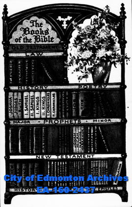 Book Cover for the Books of the Bible (drawing).