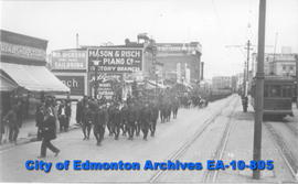 Edmonton Soldiers Leaving for Europe