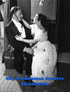 "Community Workshop Theatre: Gerard Le Page and Milwyn Davies in a scene from ""Victoria Regin..."