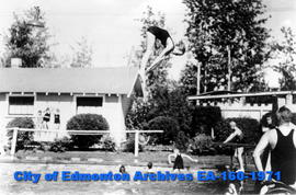 Betty Bawden Diving at Borden Park Swimming Pool