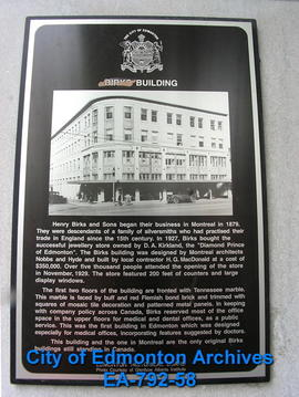 EHB Plaque for Birks Building