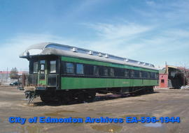"Sidetrack Cafe: passenger railcar ""Cowley"""