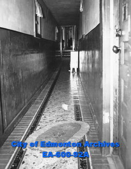 Corridor, interior of Bonnie Doon Eventide Home, Salvation Army Men's Hostel, Edmonton.