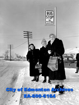 New bus routes protested by Mrs. V.R. Speare, Mrs. F.R. Hamm and Mrs. A.E. Tyldesley.